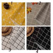 Grid Cotton Linen Fabric 1 yard