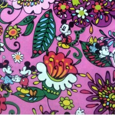 Special Disney Vera Bradley fabric Remnant 100% Cotton Just Mousing Around 1 Yard