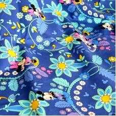 Vera Bradley Mickey and Minnie Mouse Disney fabric Remnant 100% Cotton  1 Yard