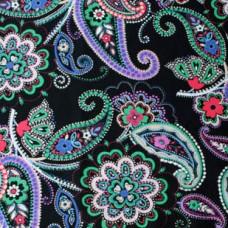 Vera Bradley 2016 new fabric Kiev Paisley Remnant 100% Cotton 1 Yard