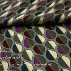 2014 New Patterns Vera Bradley fabric RAISIN Lining Remnant 100% Cotton  1 Yard