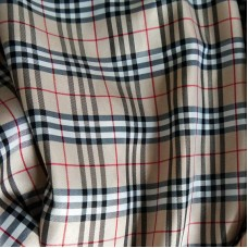 Burberry style fabric Chemical Fiber Lining Fabric 1 Yard small grid 4.5x5.5cm