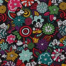 Vera Bradley Disney Mickey Mouse  fabric Remnant 100% Cotton 1 Yard