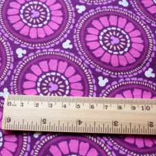 Vera Bradley Disney fabric Plums Up Mickey lining fabric Remnant 100% Cotton 1 Yard