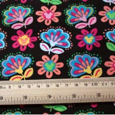 Special Vera Bradley Disney fabric Remnant 100% Cotton Midnight with Mickey Lining 1 Yard