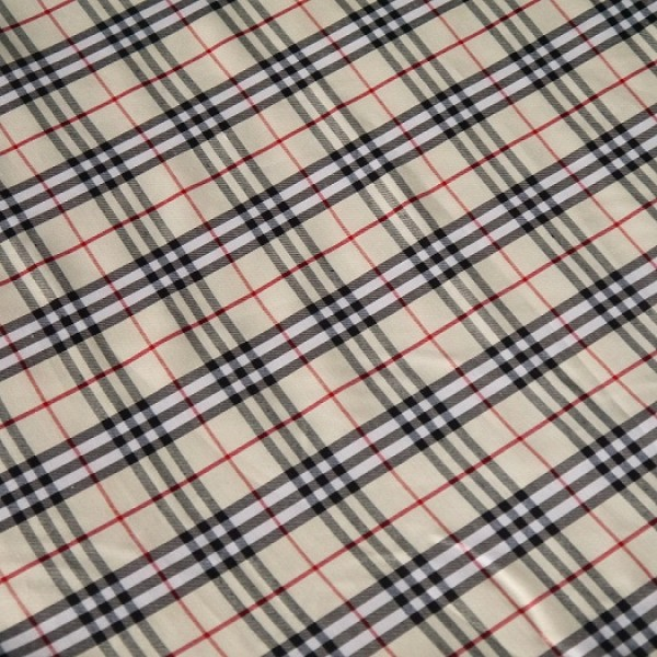Burberry style fabric Mixed polyester-cotton 1 Yard