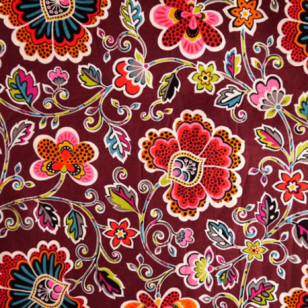 2015 New Patterns Vera Bradley fabric  Remnant 100% Cotton  1 Yard