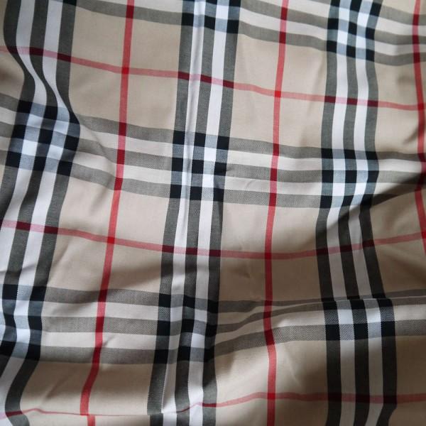 High Quality Burberry style fabric 100% Cotton 1 Yard big grid 12x13cm