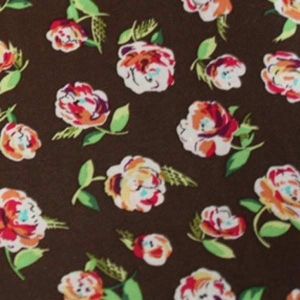 Vera Bradley fabric Remnant 100% Cotton English Rose Lining 1 Yard
