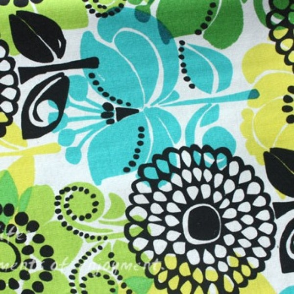 Vera Bradley fabric Remnant 100% Cotton limes up 1 Yard