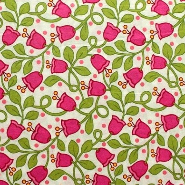 Vera Bradley fabric Remnant 100% Cotton Lilli Bell lining 1 Yard