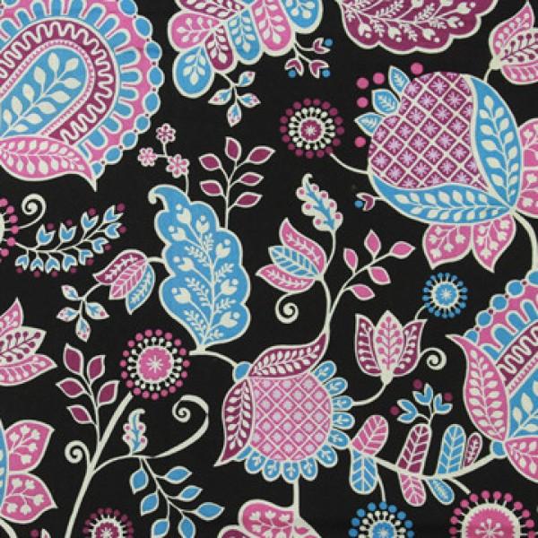 Vera Bradley Alpine Floral fabric Remnant 100% Cotton 1 Yard