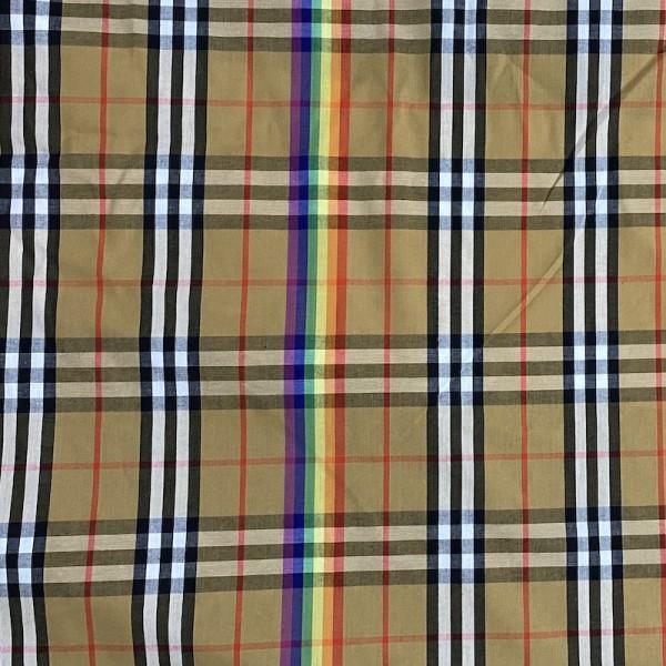 Burberry Rainbow 100% cotton 40 yarns fabric  red cell 10x8cm 1 yard