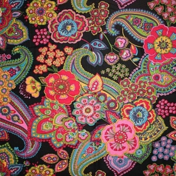 Vera Bradley fabric Remnant 100% Cotton Symphony in Hue 1 Yard