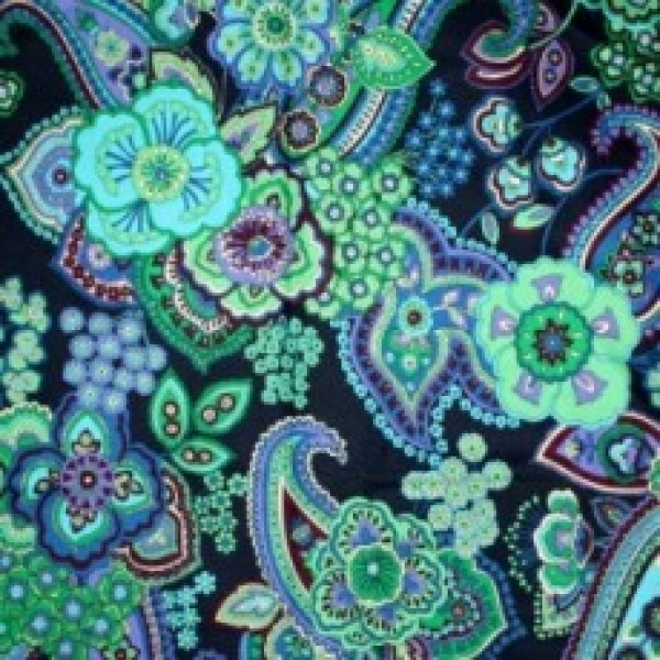Vera Bradley fabric Remnant 100% Cotton Blue Rhapsody 1 Yard