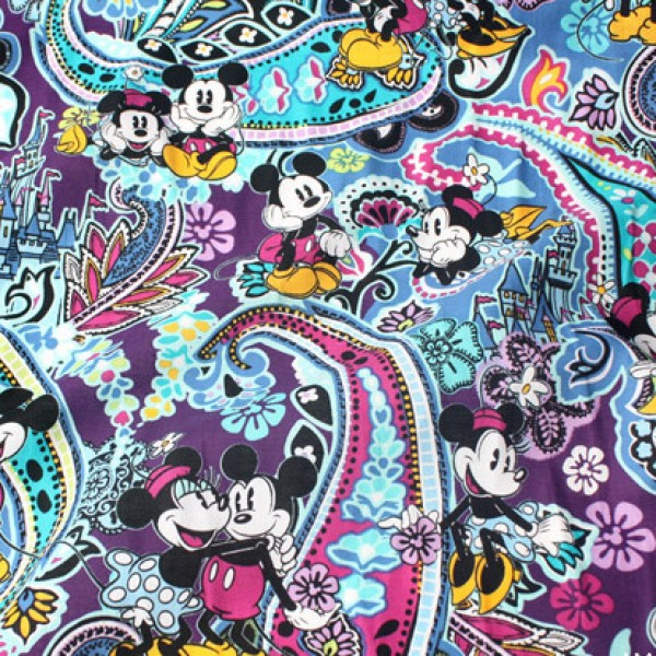 Mickey and Minnie Mouse Paisley