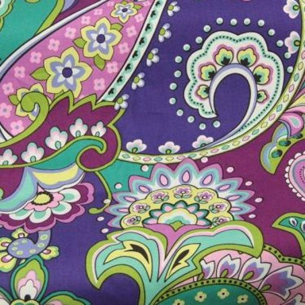2013 new Vera Bradley fabric Remnant 100% Cotton Heather 1 Yard