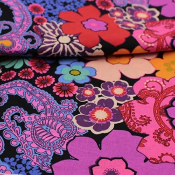 Vera Bradley 2017 Floral Fiesta fabric Remnant 100% Cotton 1 Yard