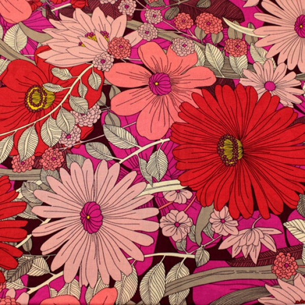 Vera Bradley Bohemian Blooms fabric Remnant 100% Cotton 1 Yard