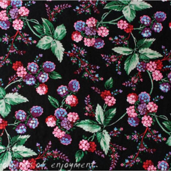 Vera Bradley new fabric Winter Berry Remnant 100% Cotton 1 Yard