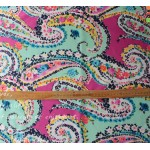 Vera Bradley Wildflower Paisley new fabric Remnant 100% Cotton 1 Yard