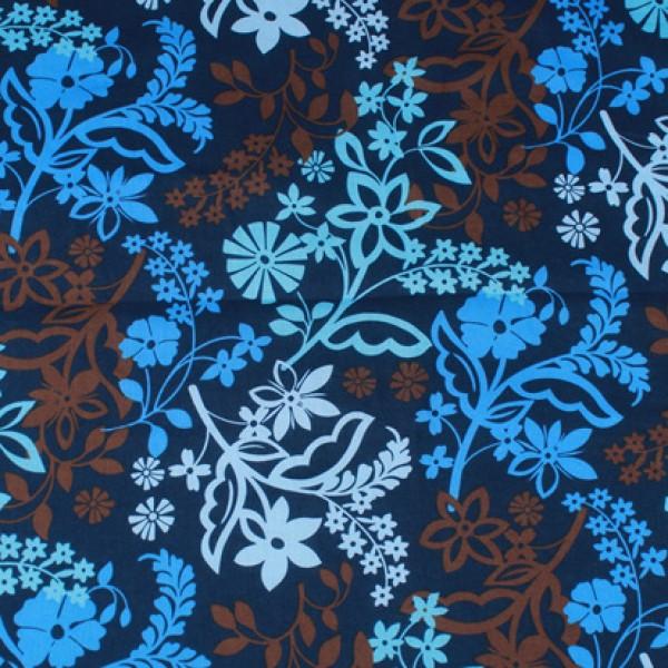 Vera Bradley 2017 Java Floral  fabric Remnant 100% Cotton 1 Yard