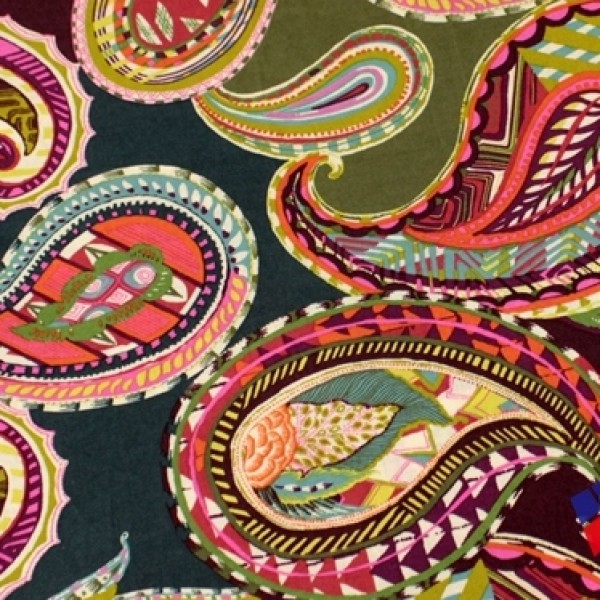 Vera Bradley fall 2017 new fabric Heirloom Paisley Remnant 100% Cotton 1 Yard