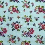 Vera Bradley Water Bouquet Fabric Remnant 100% Cotton 1 Yard