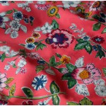 Vera Bradley Coral Floral New Fabric Remnant 100% Cotton 1 Yard
