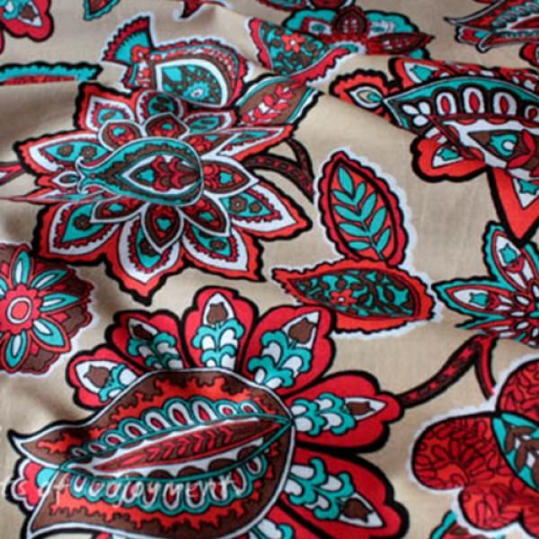 Vera Bradley Desert Floral New Fabric Remnant 100% Cotton 1 Yard