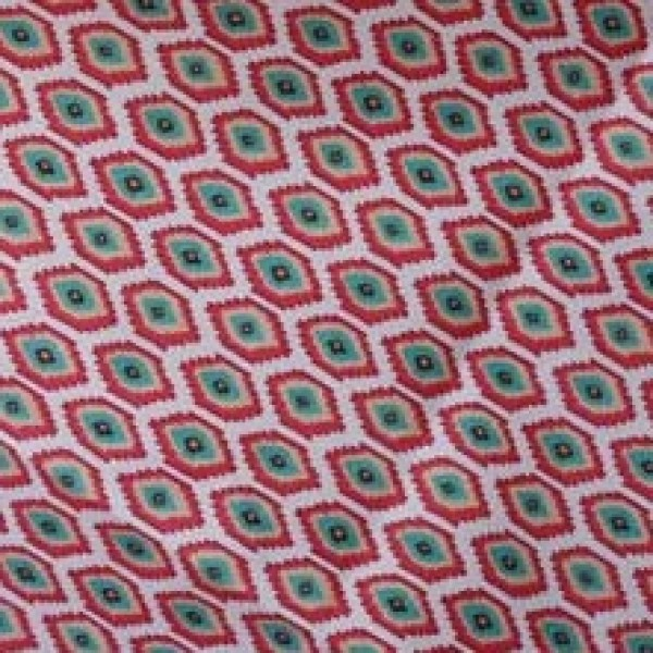 Vera Bradley fabric Remnant 100% Cotton Call Me Coral lining 1 Yard