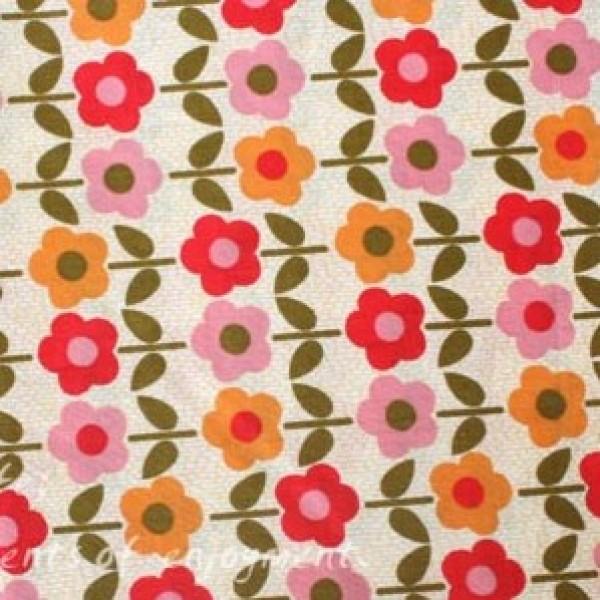 Vera Bradley fabric Remnant 100% Cotton Folkloric lining 1 Yard