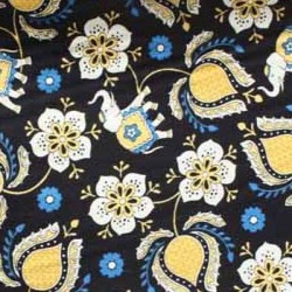 Vera Bradley fabric Remnant 100% Cotton Ellie Blue lining 1 Yard