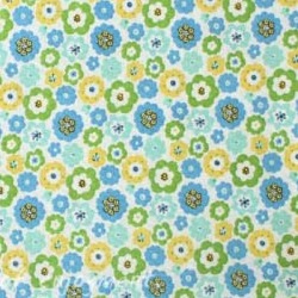 Vera Bradley fabric Remnant 100% Cotton English Meadow lining 1 Yard